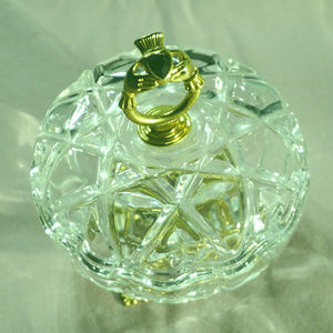 Nice like new crystal ring dish EUC